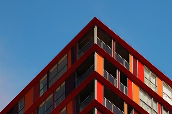 Rood pand Rotterdam